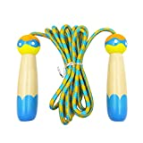 (アワンキー) Aoneky 縄跳び 子供用 ジャンプ ロープ クリアートビナワ 調整可能 トレーニング用 約2.3m (ブルー)