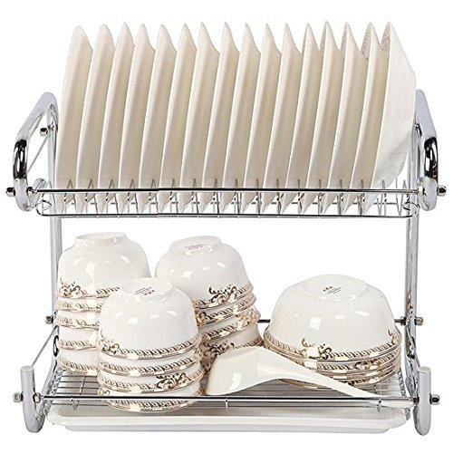 YOMYM 水切りラック 食器 水切りバスケット スリム2段 水切りかご 収納食器 キッチン用品 おしゃれ