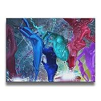 フレームレス装飾画 壁掛け 壁画 グラフィティ ダンシング 額縁なし 絵画装飾画 版画 パネル絵 客間絵画 贈り物