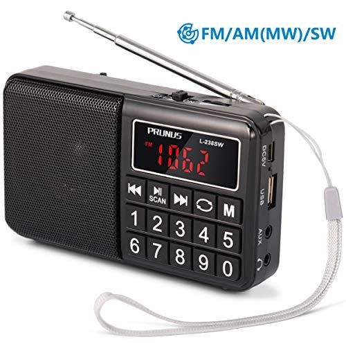 PRUNUS ポータブル SW(短波)FM AM (MW) ...
