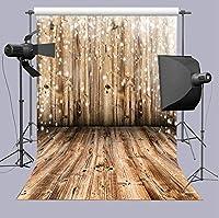 TJ 5x7フィート ビニール製背景 ノスタルジア 木製フロアパターン 写真 新生児 ベビーシャワー 写真 背景 スタジオ小道具 バナー