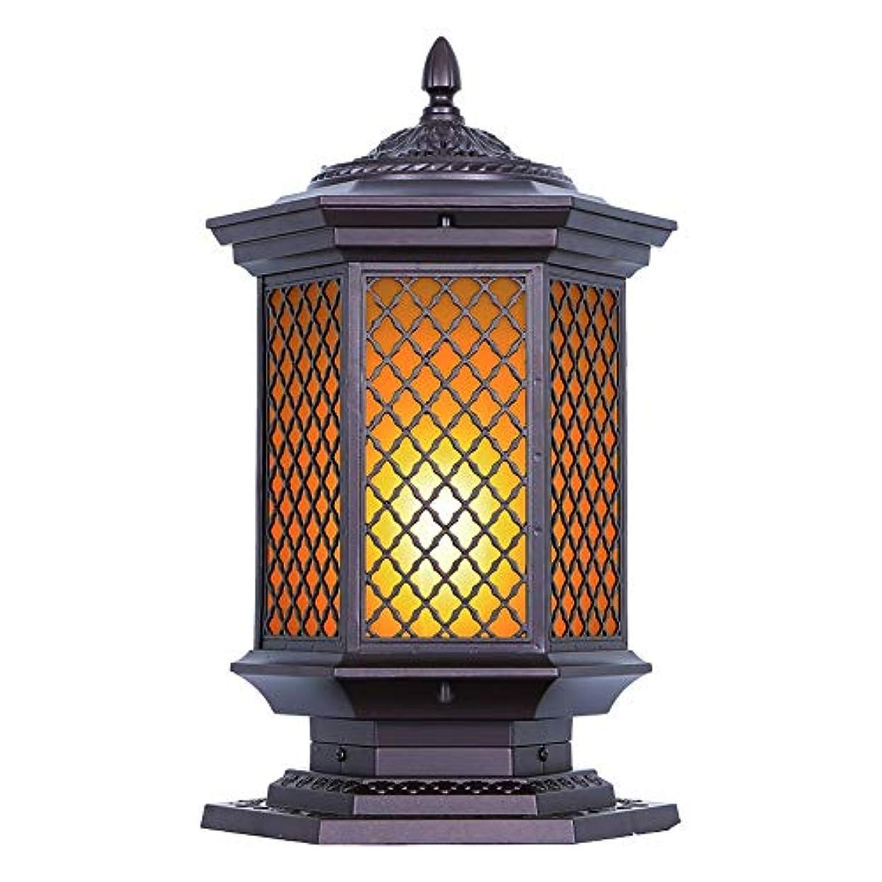 割合ブランチ錆びPinjeer ヴィンテージクリエイティブガラス防水屋外ポストライトレトロ工業用アルミコラムランプ街路ドアガーデンパークホームヴィラ装飾柱ライト (Color : Style-A, サイズ : Height 80cm)