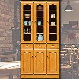 LAVI'S 食器棚 幅90cm カップボード カントリー 日本製 完成品 パイン材 ナチュラル 開梱設置
