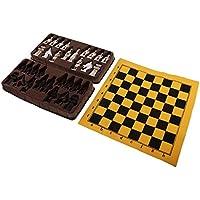 Baoblaze チェス 折りたたみ チェス盤 中国 テラコッタの戦士 樹脂 チェスビース 全3サイズ - L