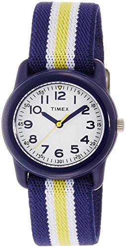 [タイメックス]TIMEX キッズ ホワイトダイアル ブルー/イエローエラスティックストラップ TW7C05800 ボーイズ 【正規輸入品】