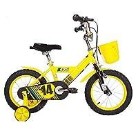 YANGFEI 子ども用自転車 子供用自転車ベビー用ベビーカー12/14/16/inch 3-6-8-10歳少女の少年の自転車カラフルな多色 2〜12歳 (色 : イエロー いえろ゜, サイズ さいず : 14 inch)