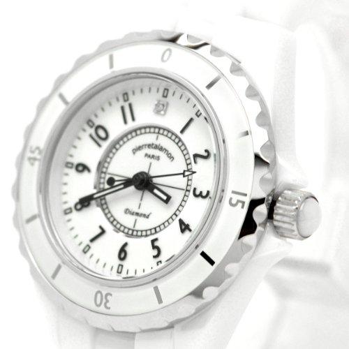 [ピエールタラモン]pierretalamon 腕時計 レディース ウォッチ ジュエリーコレクション セラミック ホワイト PT-1600L-WH レディース
