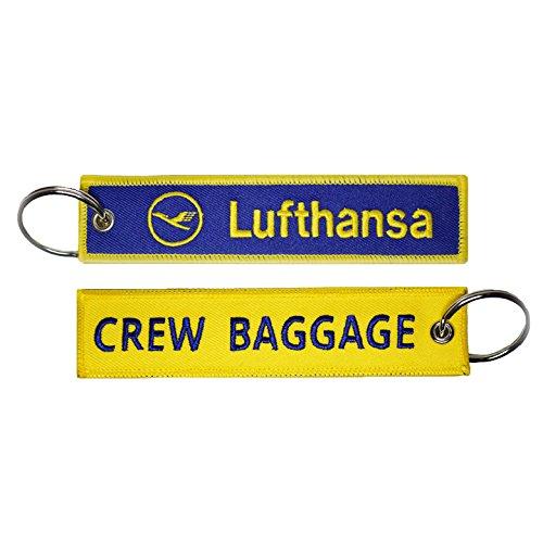 【 メール便発送 】5/14入荷予定  ルフトハンザドイツ航空 Lufthansa German Airlines CREW BAGGAGE キーチェーン キーホルダー タグ