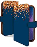 Xperia 8 SOV42 ケース 手帳型 キンモクセイ 紺 花柄 はながら スマホケース エクスペリア8 エクスペリアエイト 手帳 カバー Xperia8 Xperia8ケース Xperia8カバー フラワー 花 シンプル 小花柄 [キンモクセイ 紺/t0777c]