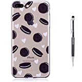 iPhone 8 Plus Case,iPhone 7 Plus Case,Grandoin [Colorful Pattern Clear Series] Ultra Slim Transparent Plastic Soft Silicone Gel TPU Rubber Bumper Protective Back Case Cover for Apple iPhone 7 Plus / iPhone 8 Plus (Oreo)
