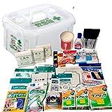 救急セット プラスチックコンテナケース 5人用 事業所 屋外 スポーツ 防災 水濡れ 強い 救急箱