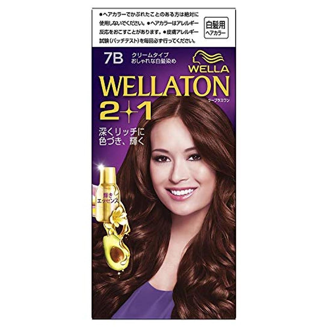 強風芸術的薄汚いウエラトーン2+1 白髪染め クリームタイプ 7B [医薬部外品]×6個