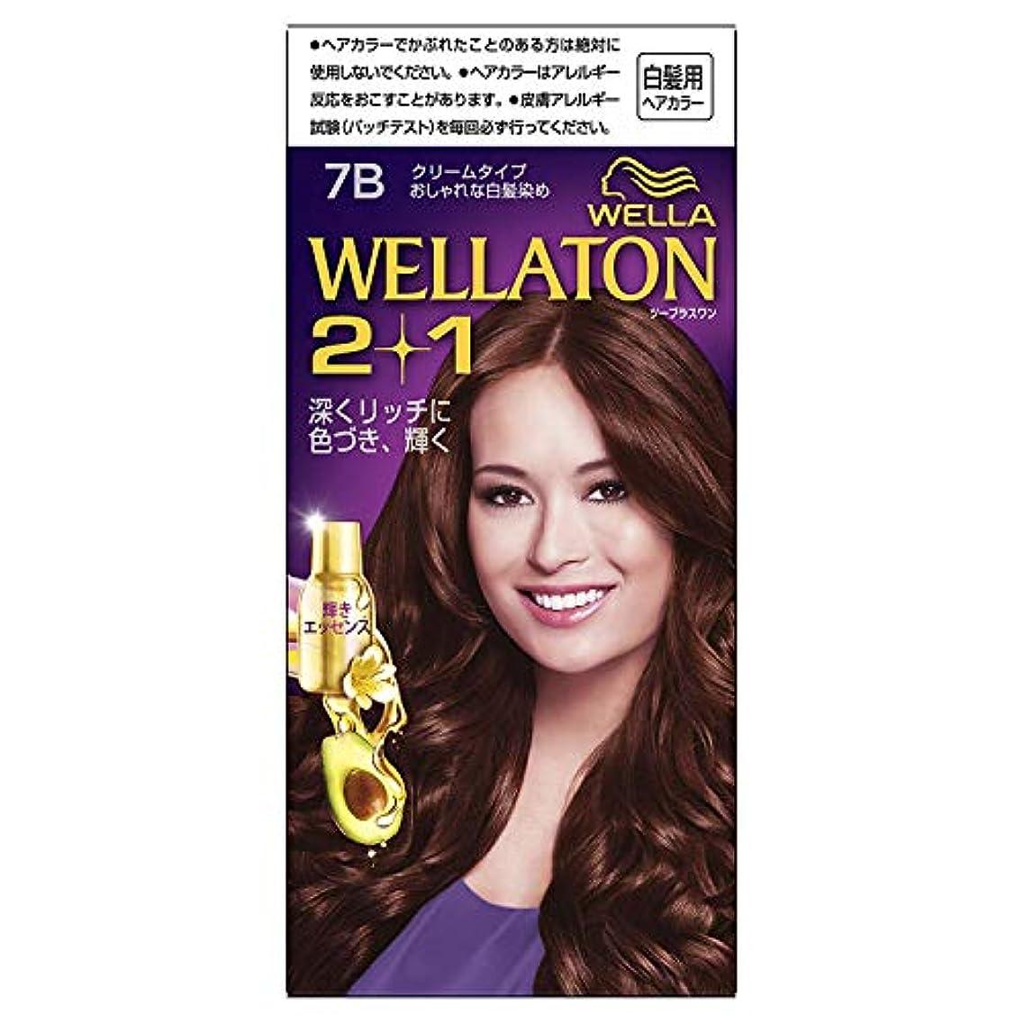 あまりにも最もタックルウエラトーン2+1 白髪染め クリームタイプ 7B [医薬部外品]×6個