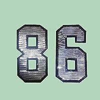 (ライチ) Lychee アイロン パッチ バッジ 数字 8 6 接着剤付け スパンコール キラキラ おしゃれ 可愛い 個性的な装飾 装飾品 縫製 ジャケット バッグ 工芸品 DIY