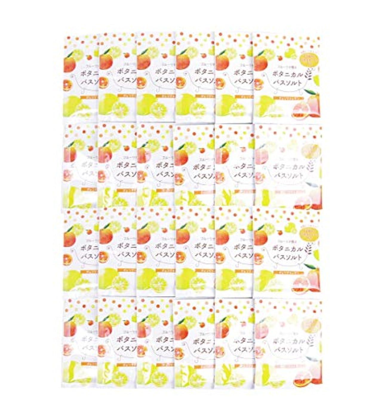 キャラクター天窓クリア松田医薬品 フルーツが香るボタニカルバスソルト オレンジ&レモン 30g 24個セット