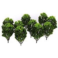 ノーブランド品 20本 木 樹木モデル 景観 鉄道模型 アクセサリー 1/100 1/150 グリーン