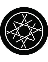 家紋シール 糸輪に糸組み合わせ井桁紋 布タイプ 直径40mm 6枚セット NS4-1757