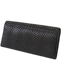 INDEN-YA 印傳屋 印伝 財布 長財布 メンズ 男性用 黒×黒 ヘリンボーン 2109-01-161