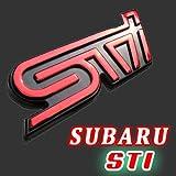 SUBARU/STI 赤メッキ エンブレム 1枚