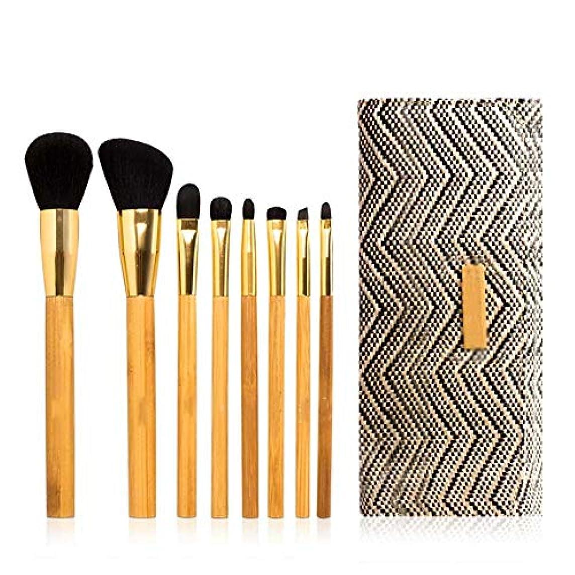 リクルート定期的なアセメーキャップアーティストスペシャルブラシ8本竹セットブラシ化粧ブラシファンデーションブラシアイシャドウブラシ