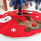 (Red Christmas Tree Cover) - Amerzam Christmas Tree Skirt Mat for Christmas Holiday Party Decoration