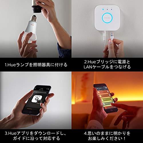 『【アウトレット品】Philips Hue ホワイトグラデーション シングルランプ(電球色~昼光色) 3個セット  E26スマートLEDライト3個  【【Amazon Echo、Google Home、Apple HomeKit、LINE対応】』の8枚目の画像