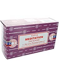 Satyaお香Meditation Incense Sticks 12 x 15グラム180グラム