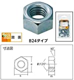 TRUSCO 六角ナット1種 ユニクロム サイズW5/8X11山 11個入 B240518