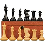 新しいExclusive Stauntonチェスセットエボニー&でBoxwood withマホガニーボックス – 4