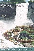 Niagara Falls、ニューヨーク–Windsビューの洞窟 12 x 18 Art Print LANT-54021-12x18