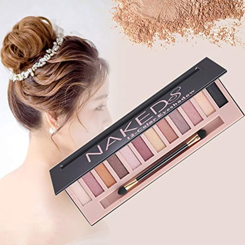 健康と美容アイシャドウ 5673化粧品12色パールスモーキーアイシャドウメイクアップパレット 化粧