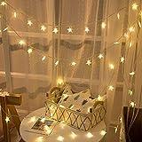 クリスマス ledスターライト 飾り ライト6m 40球 LED ストリング ライト クリスマス ツリー 飾り物 高輝度 パーティー 結婚式 誕生日 記念日 デコレーション