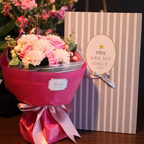 ソープフラワー Minbau 枯れない 花 ギフト 花束 ボックス バラ 石鹸 フラワー お祝い 誕生日 記念日 女性 ...