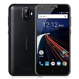 """Ulefone S7 スマートフォン 5"""" HD 720x1280P 耐衝撃コーニングゴリラガラス3スクリーン ジュアルカメラ 5MP 8MP+5MP デュアルスタンバイ(au不可)MTK6580 1.3GHzクアッドコア 1GB RAM+8GB ROM スマートoff-screen ジェスチャー Android 7 (黒)"""