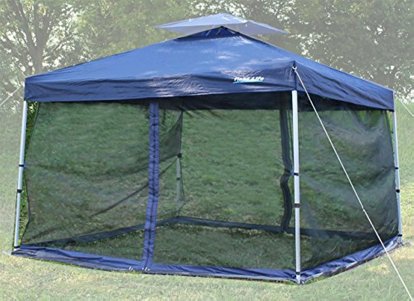 フェロー諸島降伏予定Field Life 300サイズテント用メッシュテントスクリーン【蚊帳】簡易テント オプション 開閉可能