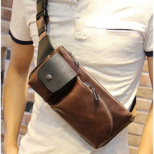 メンズ バッグ ショルダーバッグ 和風 ファッションバッグ 革 皮 レザー ブラウン コーヒー 茶 色
