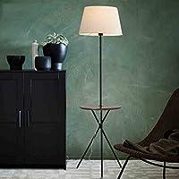 フロアランプ 北欧アメリカのリビングルームのフロアランプベッドルームランプクリエイティブコーヒーテーブルソファベッド垂直立ちランプ フロアランプの節約 (色 : White Black Walnut)