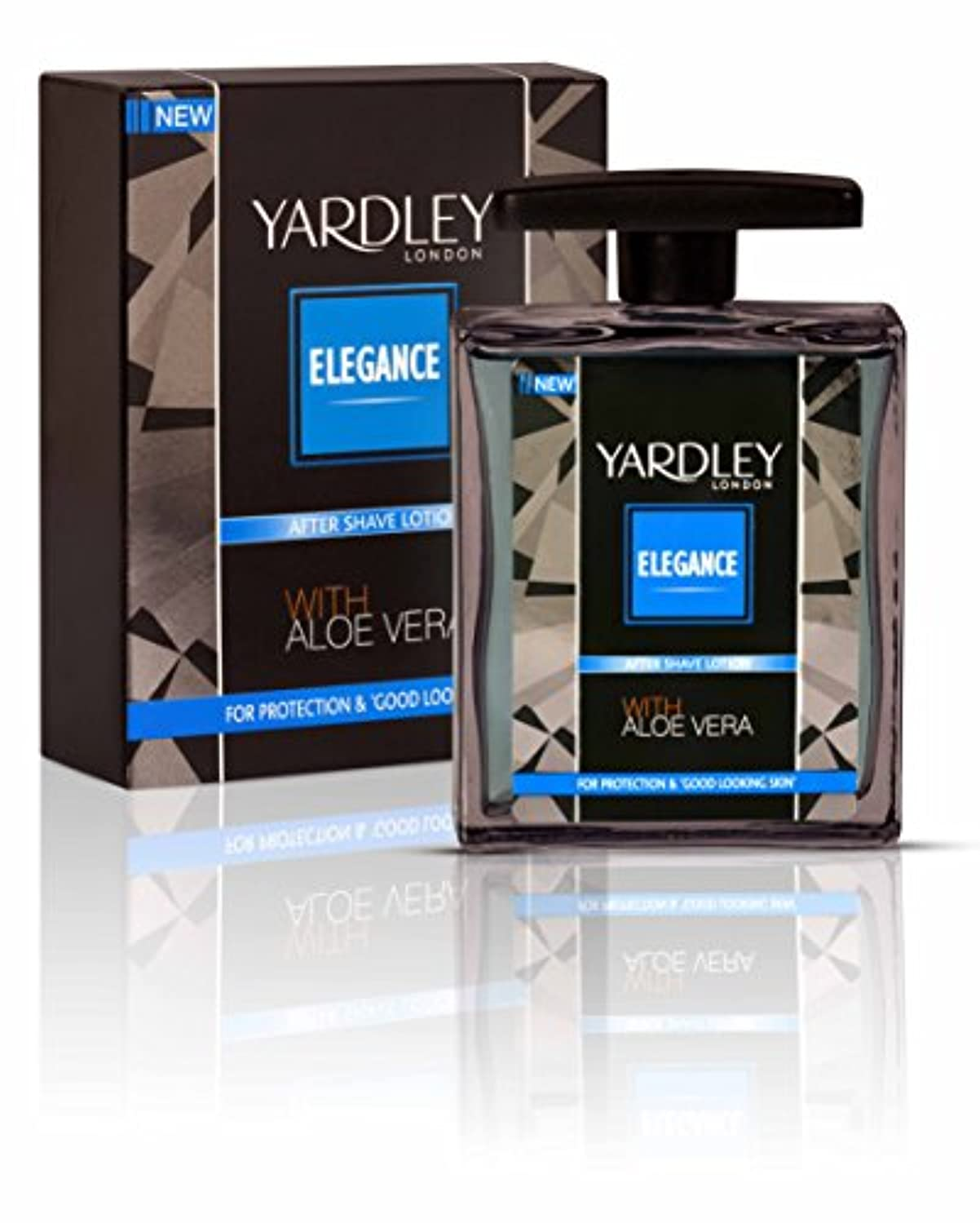 苦い雇うに付けるYardley London Elegance After Shave Lotion With Aloe Vera 50ml