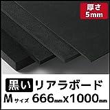 リアラボード 黒5mm×666mm×1000mm