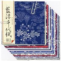 菅公工業 折り紙 藍染千代紙 大 ミ082