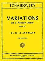 TCHAIKOVSKY - Variaciones sobre un Tema Rococo Op.33 para Violoncello y Piano (Rose)