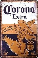 コロナ ビール ブリキ看板 Ver.2 20cm×30cm Corona Extra Beer A4サイズ アメリカン インテリア雑貨 [並行輸入品]