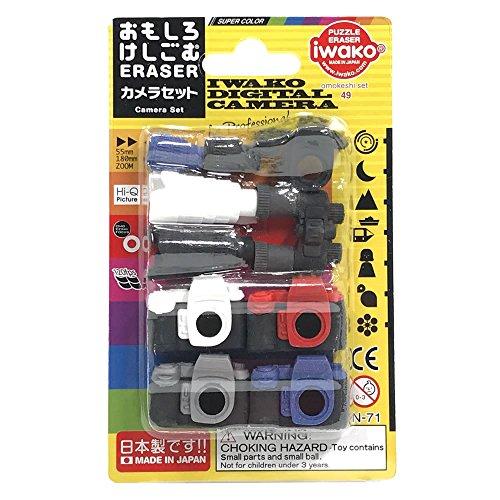 イワコー おもしろ消しゴム カメラセット ER-BRI054 ブリスターパック49