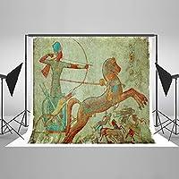 ケイト7x 5ft古代エジプトChariot Hero Archerエジプト壁画バックドロップスタジオ写真背景