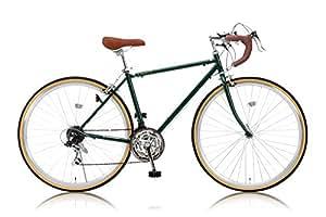 RayChell(レイチェル) クラシカルロードバイク 700C RD-7021R シマノ21段変速[サムシフター] 2WAYブレーキシステム搭載 フレームサイズ470 アイビーグリーン