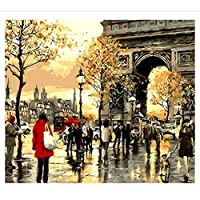 Paint by Numbers Kit with Acrylic Paints Brushes Diy Canvas Painting for Adults