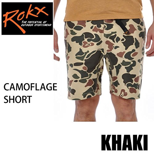 ROKX rokx ロックス クライミングパンツ ROKX CAMOUFLAGE SHORT カモフラージュショート KHAKI RXMS8214 rokx クライミングパンツ