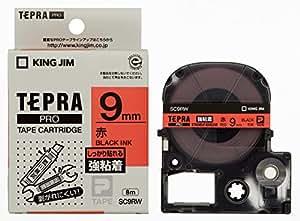 キングジム テープカートリッジ テプラPRO 強粘着 9mm SC9RW 赤