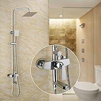 バスルームwith Rainシャワーヘッド&シャワーセットステンレススチール継手システムハンドヘルドシャワーヘッドスプレー