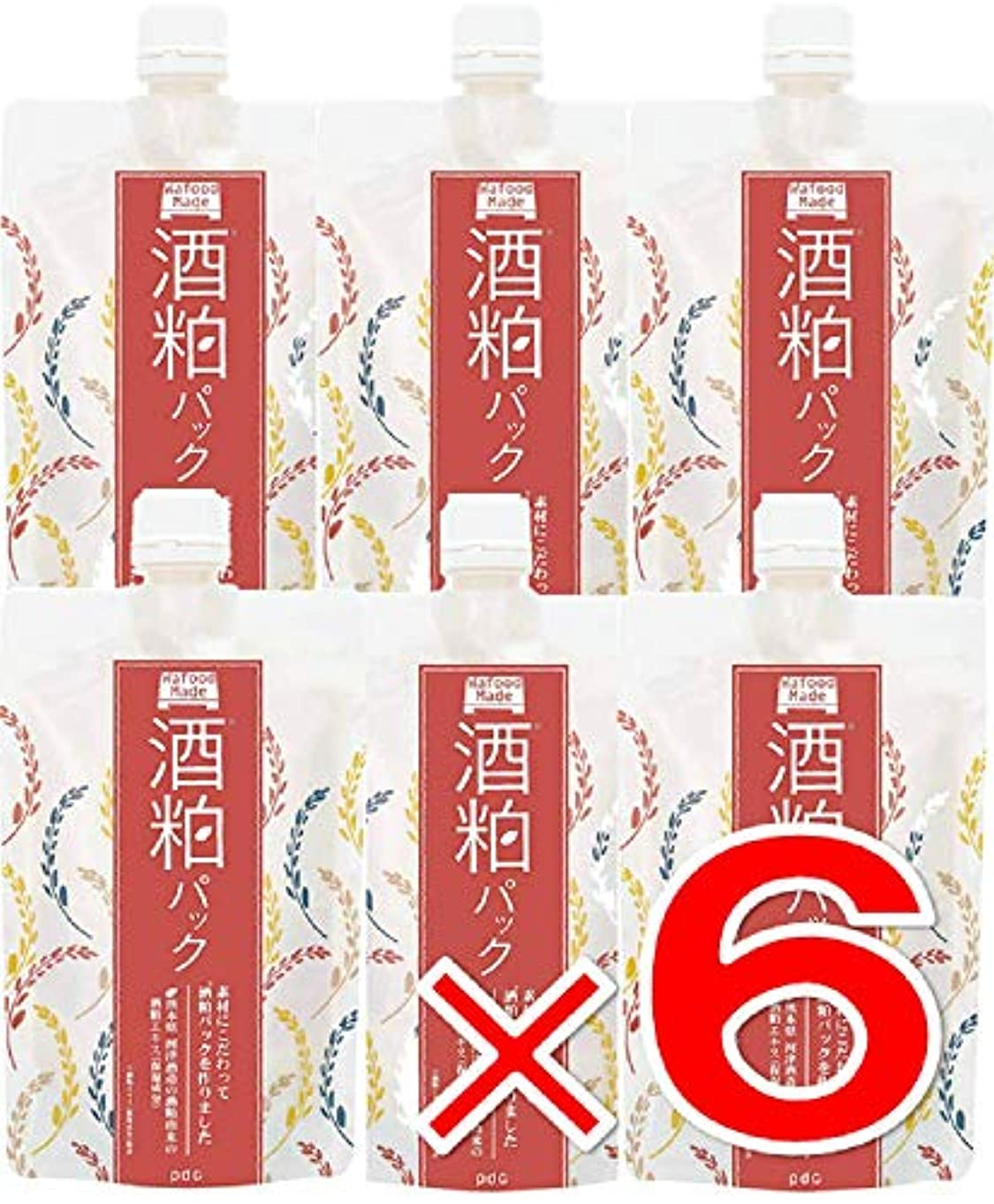 キモい新聞白鳥【 6個 】 ワフードメイド (Wafood Made) 酒粕パック 170g 日本製